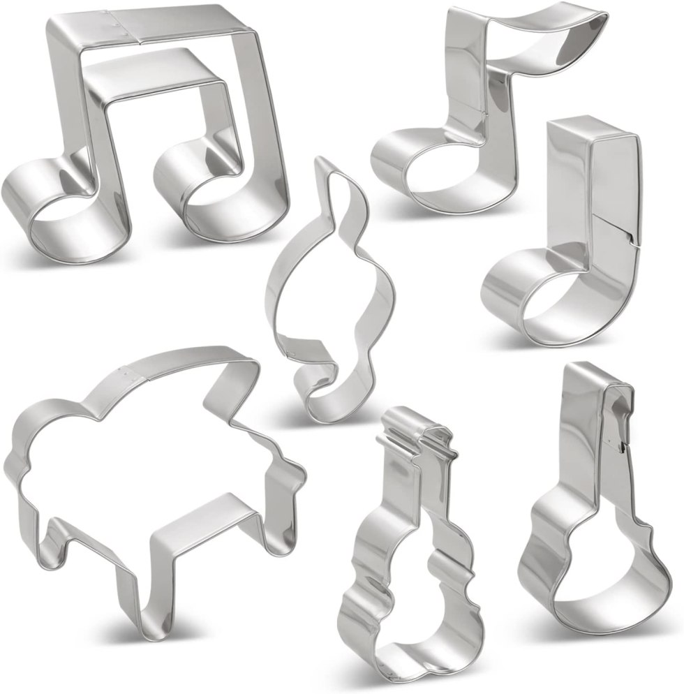 Cookie cutters music themed kitchen utensils for gifts