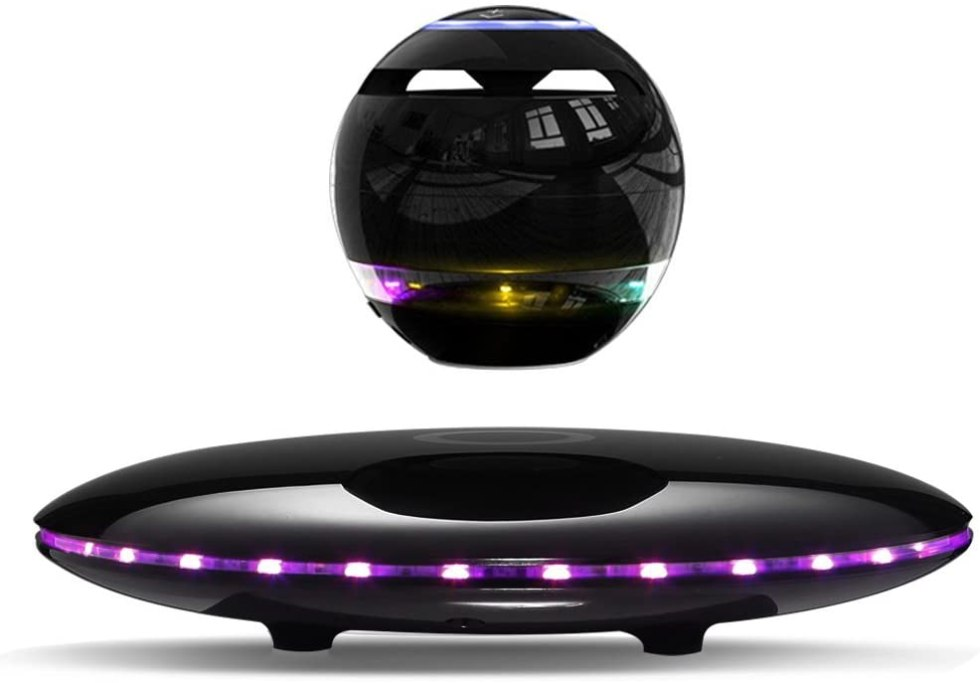 Levitating bluetooth speakers for gifts