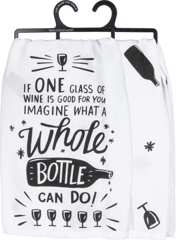 Whole Bottle funny dish towel for gifts