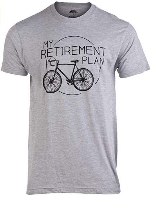 Retirement Plan Tee gifts for bikers