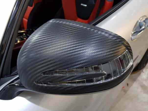 Mercedes AMG GTS Carbon Wing Mirror Wrap