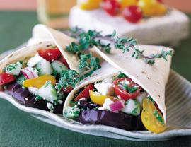 Griekse vegetarische wraps