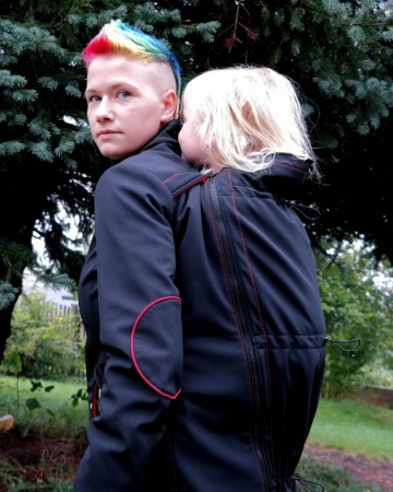 Tutorial: How to put a babywearing coat on (backcarry)