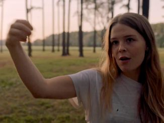 "Maggie Rogers in a scene from her new video for the song ""Alaska."""