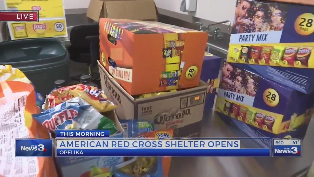 Red Cross shelter opens in Opelika - 6am