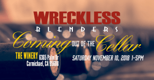 Join the Wreckless Blenders on Nov 10 for a wonderful time tasting.