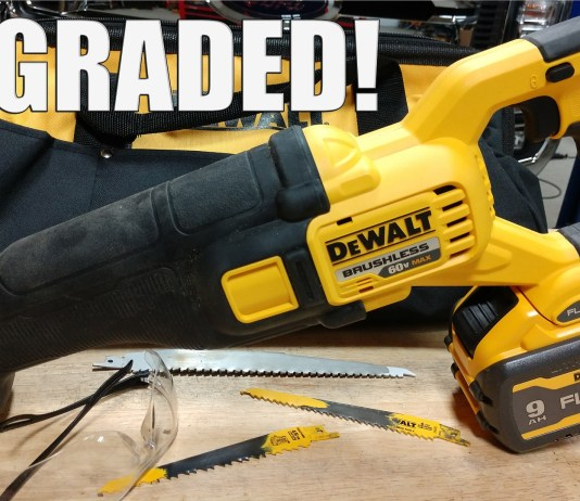 DEWALT FlexVolt 60V Brushless Recip Saw Review DCS389 DCS39X1 Some would call this a Sawzall