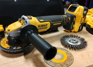 "DEWALT POWER DETECT 20V XR Brushless 5"" Angle Grinder Review DCG415"