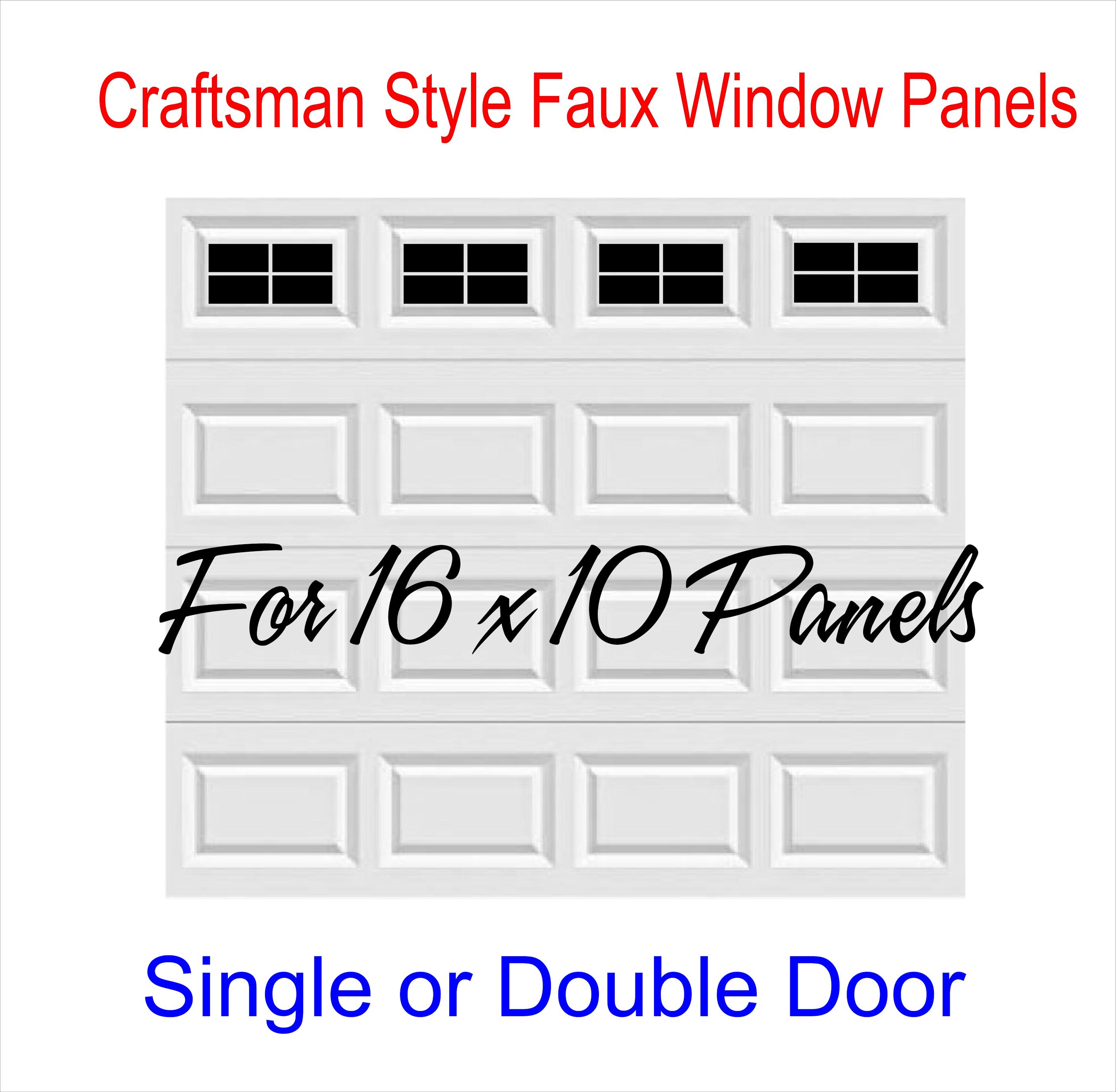 Craftsman style vinyl garage door decal kit 16 x 10 faux windows craftsman style vinyl garage door decal kit 16 x 10 faux windows 4 squares per rubansaba