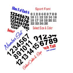 Number Decals