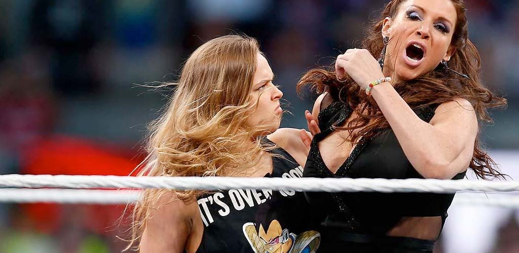 Mainstream media websites cover Rousey's WrestleMania appearance