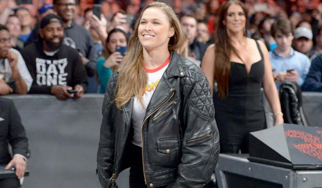 Kurt Angle with high praise for Ronda Rousey's work ethic