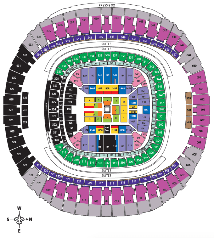 Wrestlemania 34 Ticket Prices And Seat Chart Wrestling Online Com