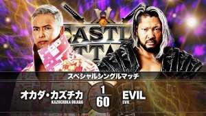 NJPW Castle Attack Results: Kazuchika Okada Vs. EVIL