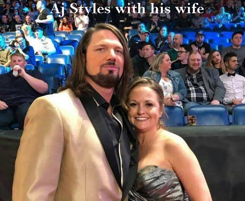 Aj Styles WWE star and wife