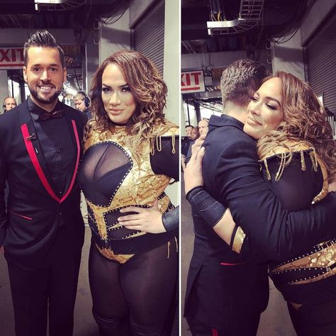 Mike Rome and Nia Jax