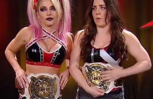 Nikki Cross and Alexa Bliss