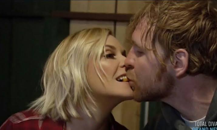 Renee Young kiss Dean Ambrose