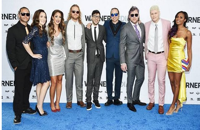 Cody Rhodes, Matt Jackson, Nick Jackson, Tony Khan, Brandi Rhodes, Britt Baker, Kenny Omega, Hangman Adam Page