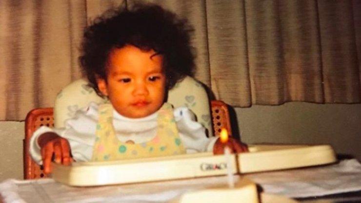 Sasha Banks as a child