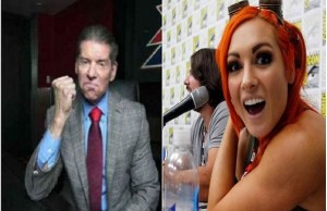 Becky Lynch and Vince McMahon