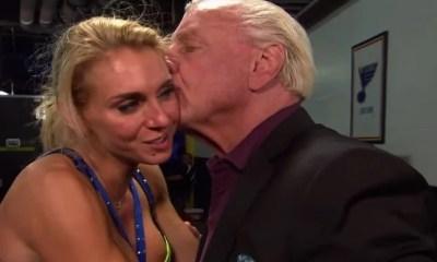 Ric Flair and Charlotte WWE Champions