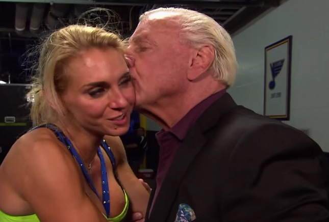 Ric Flair and Charlotte WWE Champions
