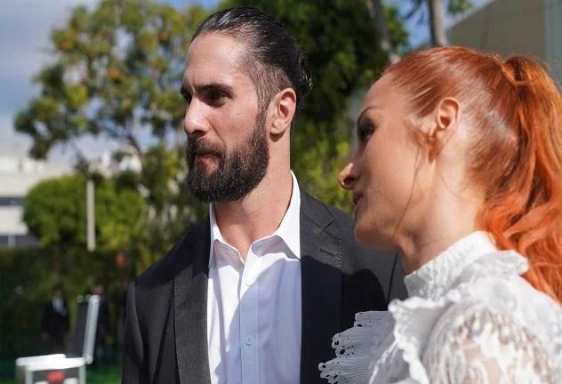 Seth Rollins and Becky Lynch wedding