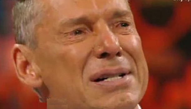 Vince McMahon WWE CEO cry