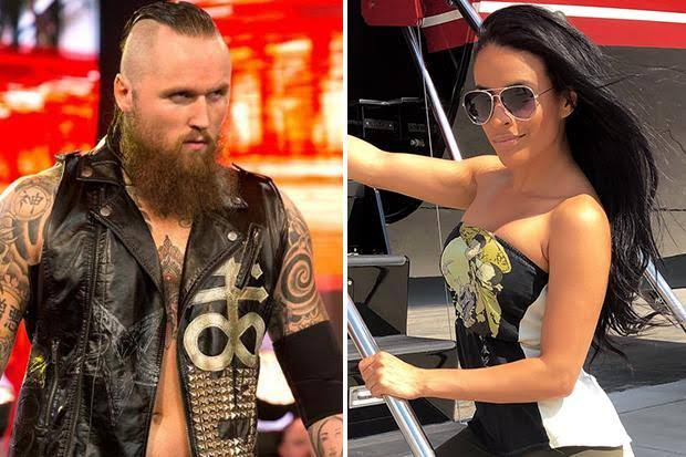 WWE stars Zelina Vega and Aleister Black
