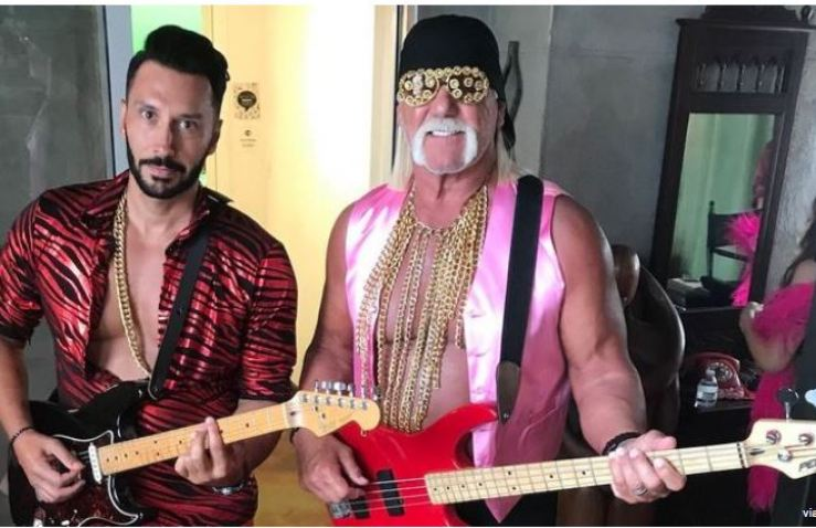 Hulk Hogan with guitar
