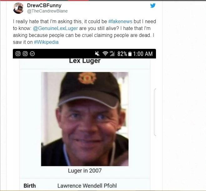 Lex Luger tweet