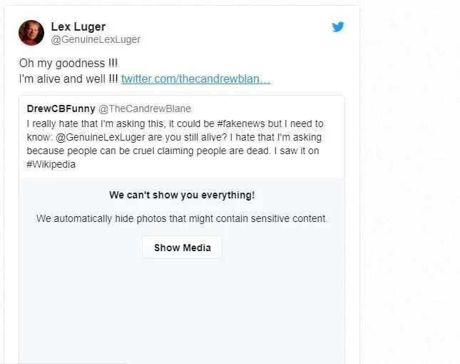 Lex Luger tweeted