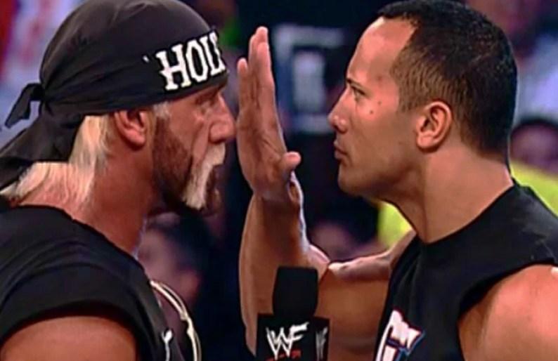 The Rock and Hulk Hogan face off