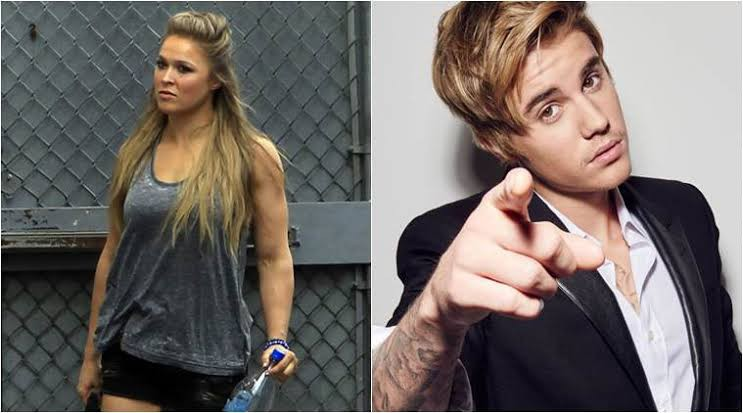 WWE Ronda Rousey and Justin Bieber beef