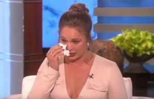 Ronda Rousey crying