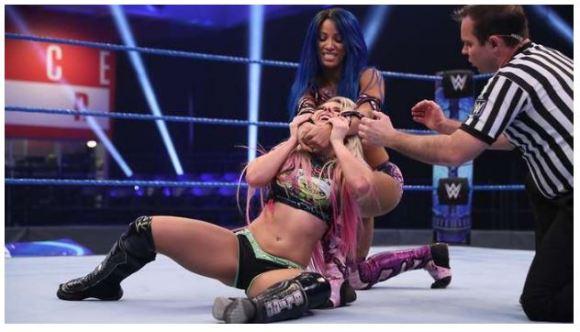 Sasha banks in the ring