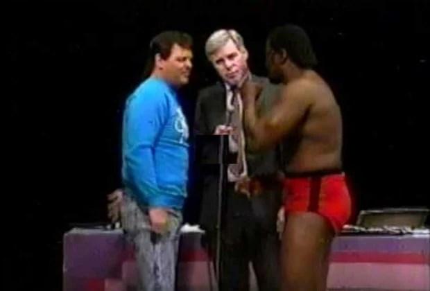 King Cobra in the ring, Jimmy Kimble vs Jerry Lawler