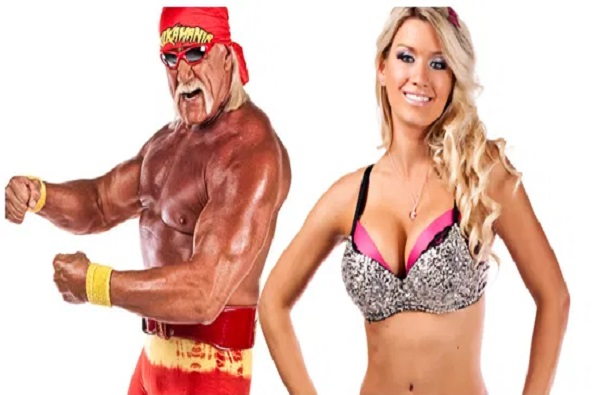 Lacey Von Erich and Hulk Hogan