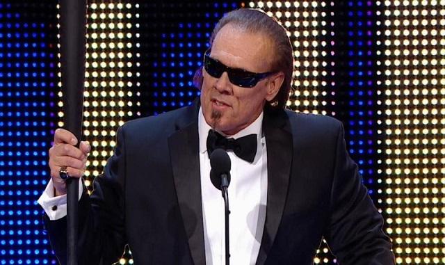 Sting during his Hall of Fame induction