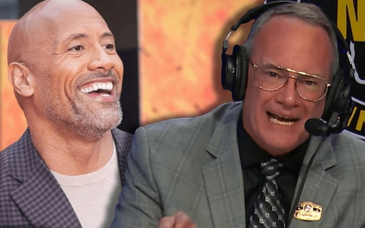 The Rock and Jim Cornette