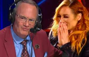 Jim Cornette and Becky Lynch act