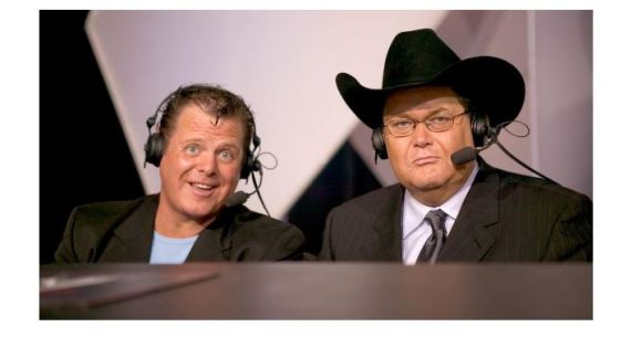 Jim Ross and Jerry Lawler speaking
