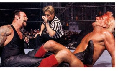 Undertaker and Ric Flair act