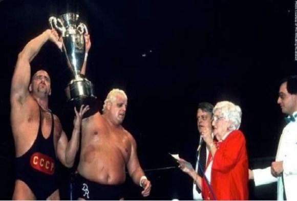 Jim Crockett Sr Memorial Cup Winners Dusty Rhodes and Nikita