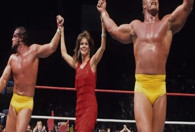 Randy Macho Man Savage, Ms Elizabeth and Hulk Hogan