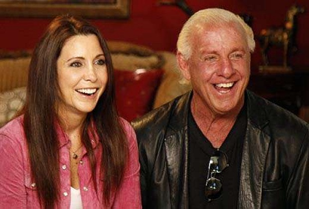 Ric Flair and his wife Wendy Barlow
