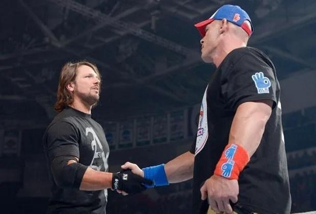 John Cena and AJ Styles