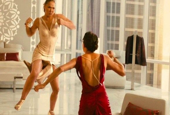 Michelle Rodriguez and Ronda Rousey