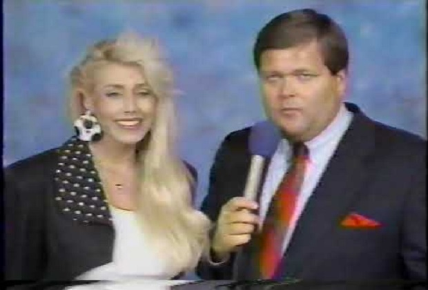 Missy Hyatt and Jim Ross